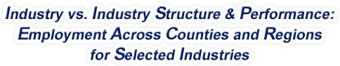 Florida - Industry vs. Industry Structure & Performance: Employment Across Counties and Regions for Selected Industries